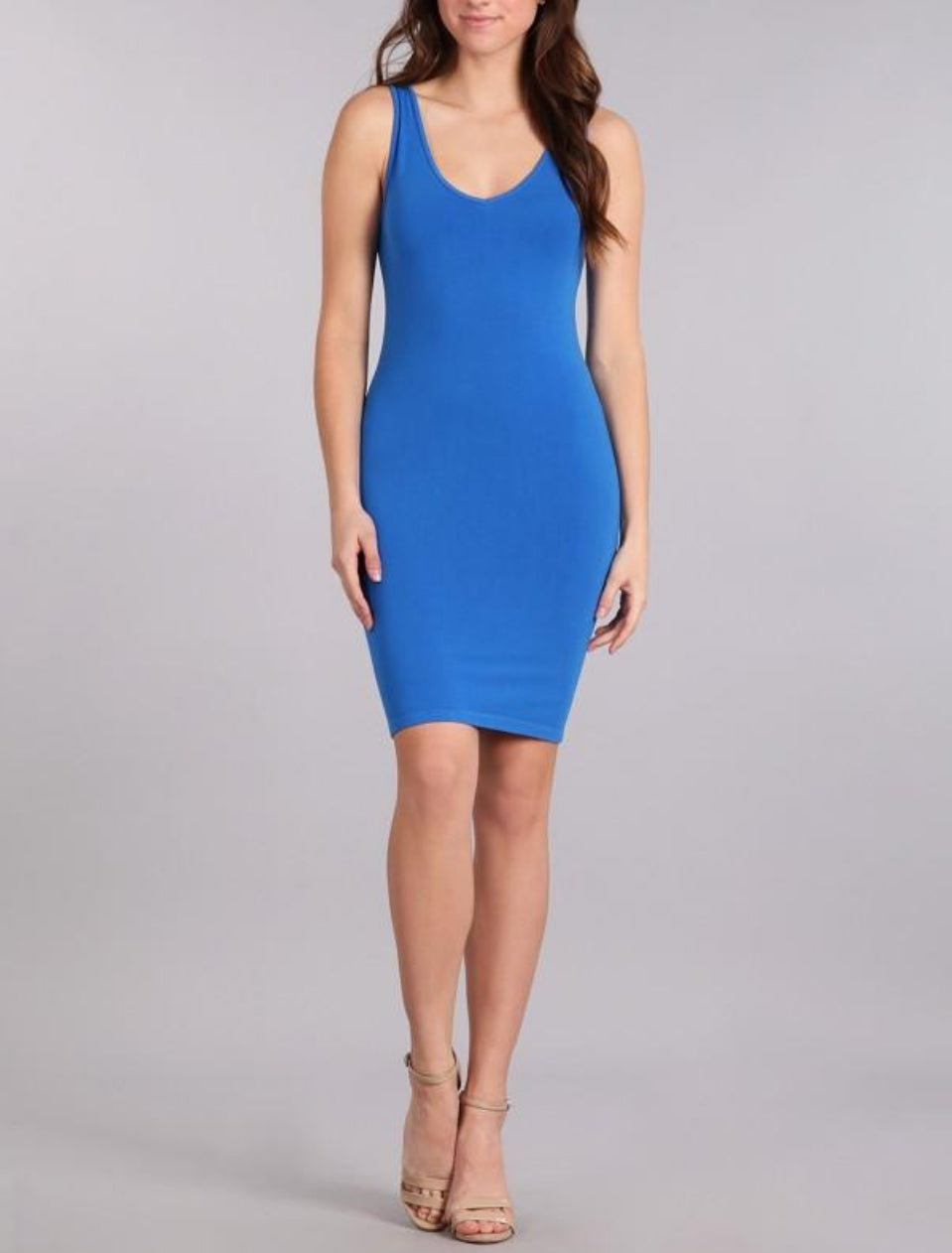 reversible tank dress - french blue