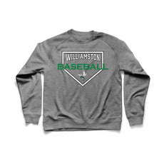 Williamston Diamond - Heather Gray - Raglan Crewneck