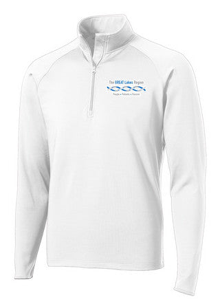 Men's White 1/2 Zip Pullover
