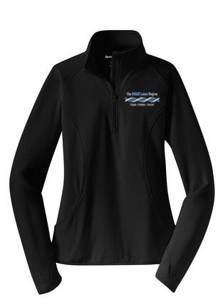 Women's Black 1/2 Zip Pullover