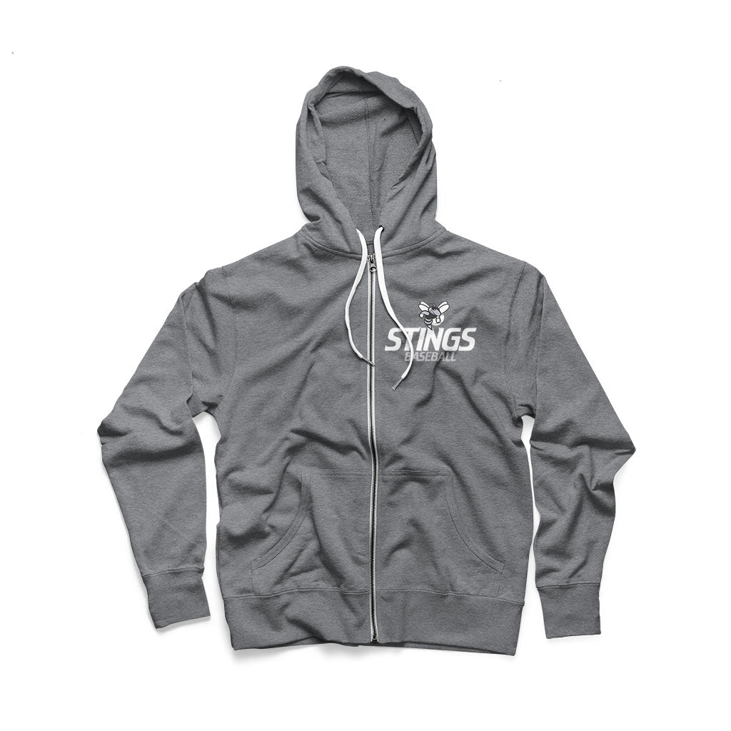 Stings Baseball Unisex French Terry Zip Up Hoodie