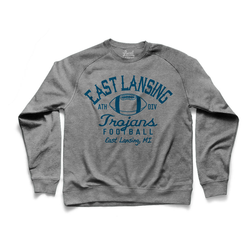 East Lansing Retro Football Crew Neck