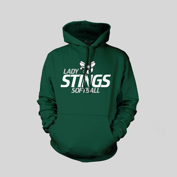 Lady Stings Youth Softball Hoodie