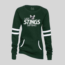 Lady Stings Softball Womens Varsity Fleece Crew Neck Sweatshirt