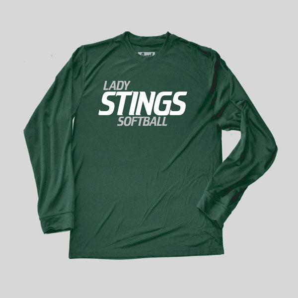 Lady Stings Softball Performance Long Sleeve Men's Sizes