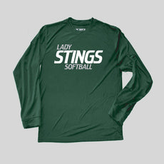 Lady Stings Youth Softball Performance Long Sleeve Tee