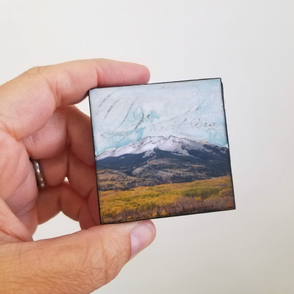 "Mountains VIII, 2"" x 2"" mini"