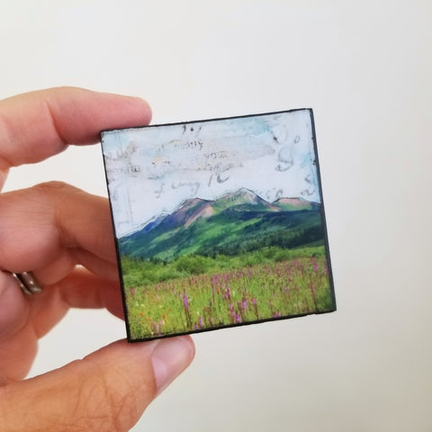 "Mountains VIX, 2"" x 2"" mini"