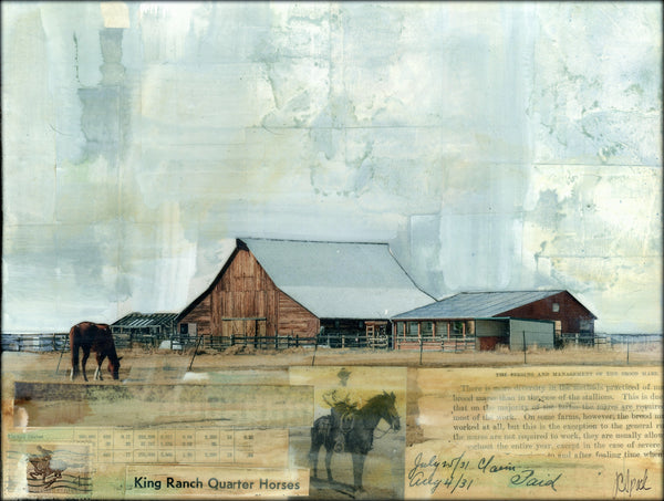 "At the Ranch, 9"" x 12"" (Framed)"
