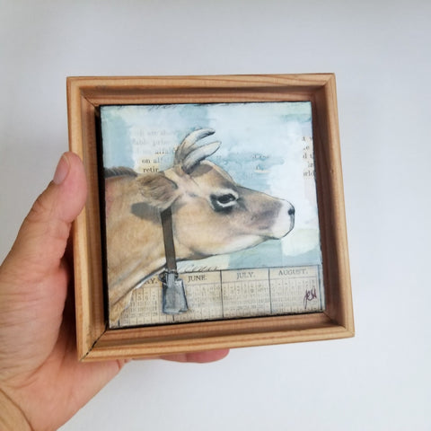 "Blue Bell, 4"" x 4"" (Framed)"