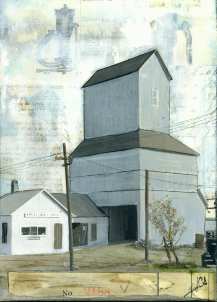"Farmers Union Elevator, 5"" x 7"" (Framed)"