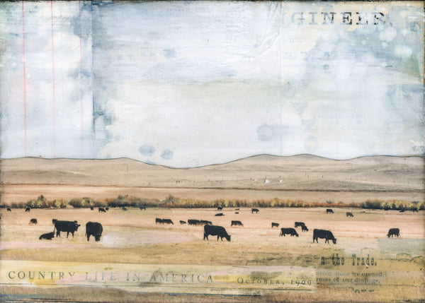"Grazing, 5"" x 7"" (Framed)"