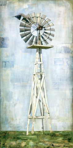 "High Plains Windmill, 24"" x 48"""