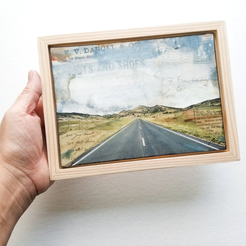 "Open Road II, 5"" x 7"" (framed)"