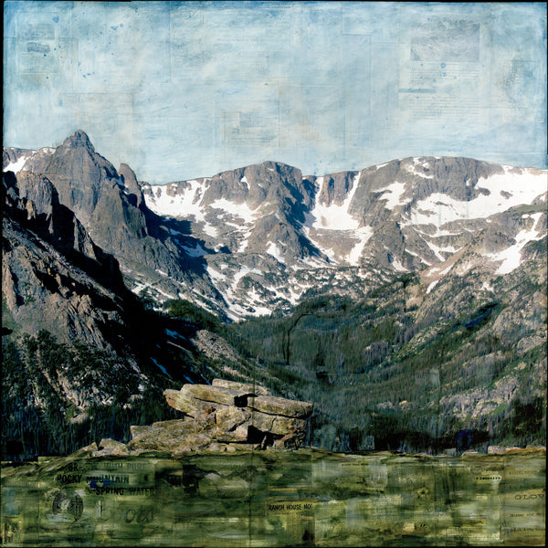 "Mountains & Marmot, 36"" x 36"""