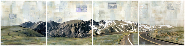 "Panoramic Views, 24"" x 96"" (quadriptych)"