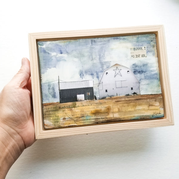 "Star Barn II, 5"" x 7"" (Framed)"
