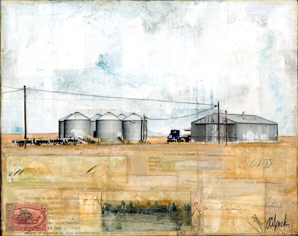 "Storing the Harvest II, 8"" x 10"" (Framed)"