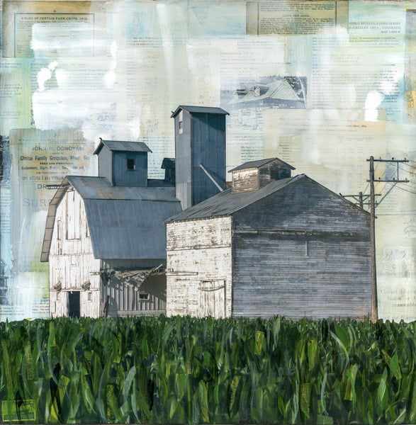 "The Corn is High, 20"" x 20"""