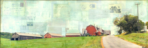 "On the Farm, 12"" x 36"" - J.C. Spock"
