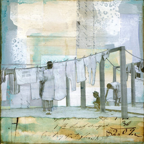 "Laundry Day, 6"" x 6"" - J.C. Spock"