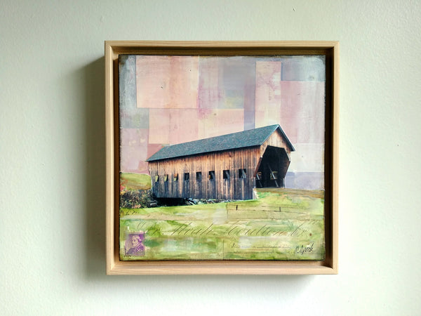 "Covered Bridge, 8"" x 8"" - J.C. Spock"