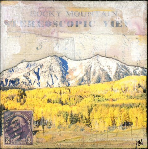 "Elk Mountains III, 4""x4"" - J.C. Spock"