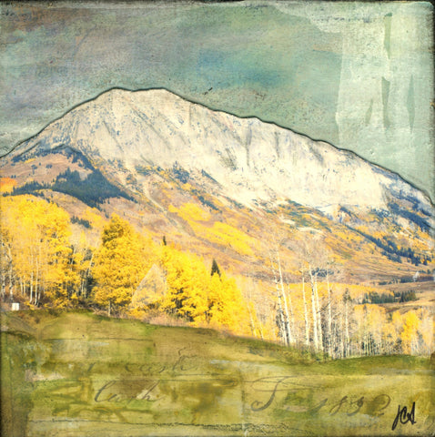 "Elk Mountains IV, 4""x4"" - J.C. Spock"