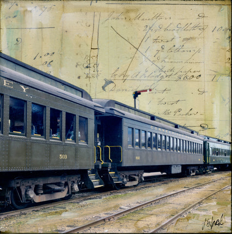 "Essex Train, 4"" x 4"" - J.C. Spock"