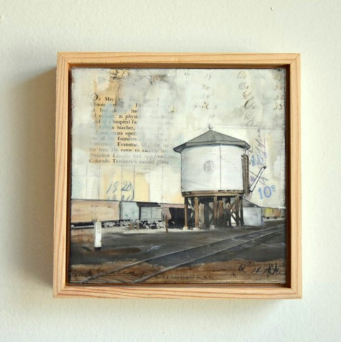 "Rail Water Tower, 6"" x 6"" - J.C. Spock"