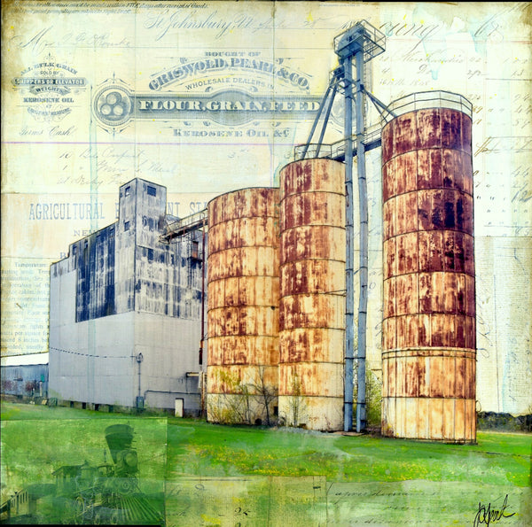 "Farm Bureau Feeds, 12"" x 12"" - J.C. Spock"