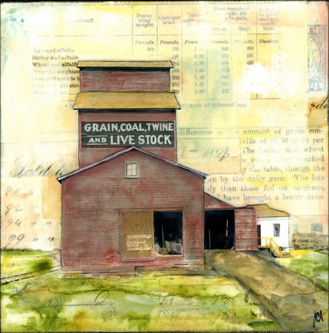 "Coal, grain, etc., 6"" x 6"" - J.C. Spock"