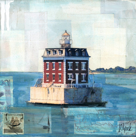 "Ledge Light II, 8"" x 8"" - J.C. Spock"