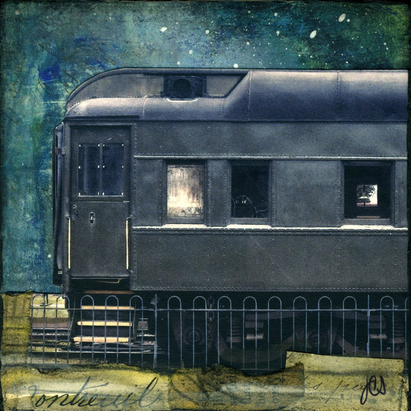 "Midnight Train, 4"" x 4"" - J.C. Spock"