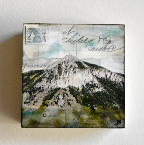 "Mt. Crested Butte, 4""x4"" - J.C. Spock"