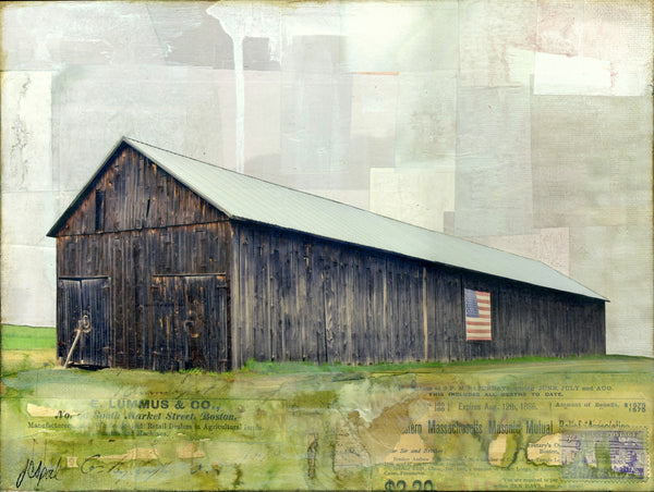 "Patriot Barn, 9"" x 12"" - J.C. Spock"