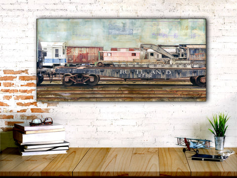 "Rail Yards, 12"" x 24"" - J.C. Spock"