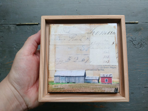"Red Shed, 4"" x 4"" - J.C. Spock"