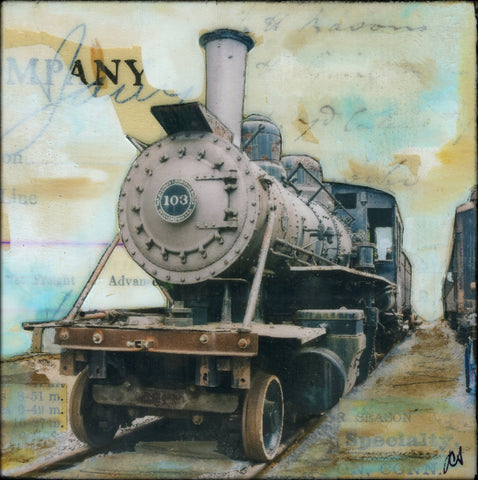 "Steam 103, 4"" x 4"" - J.C. Spock"