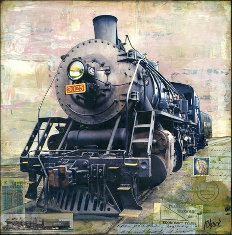 "Steam Locomotive 3025, 12"" x 12"" - J.C. Spock"
