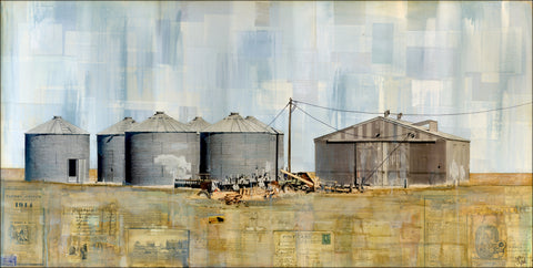 "Storing the Harvest, 24"" x 48"" - J.C. Spock"