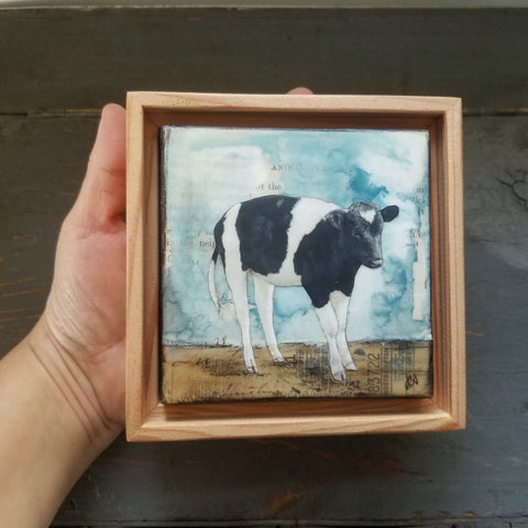 "Sweet Cow, 4"" x 4"" - J.C. Spock"