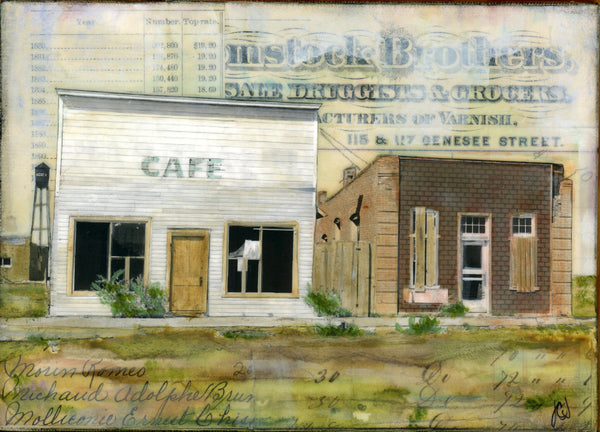 "The Former Cafe, 5"" x 7"" - J.C. Spock"