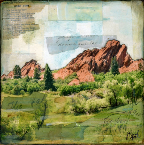 "Valley of Red Rocks, 6"" x 6"" - J.C. Spock"