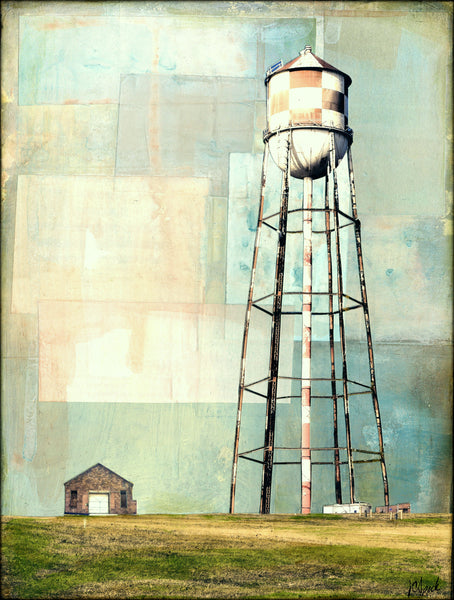 "Water Tower, 9"" x 12"" - J.C. Spock"
