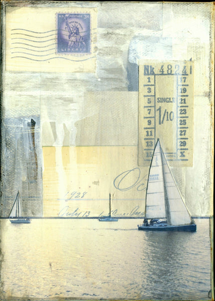 "With the Sails I, 5"" x 7"""