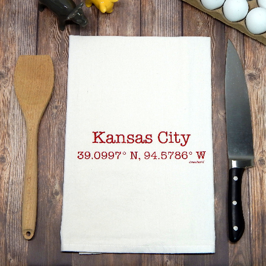 Kansas City Coordinates - blue