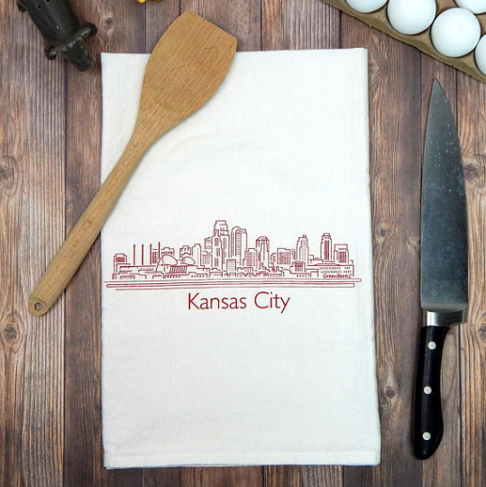 Kansas City Skyline - red
