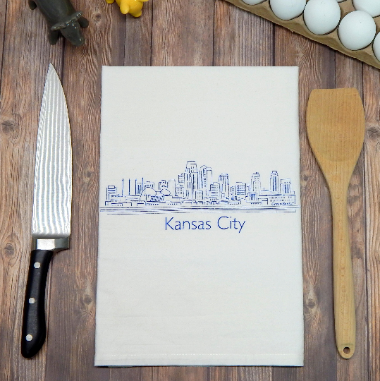 Kansas City Skyline - black