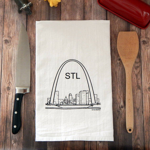 St. Louis Arch - black